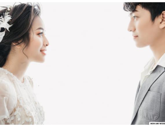 Chụp ảnh cưới trong Studio theo phong cách Hàn Quốc