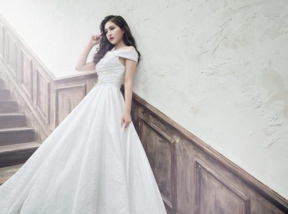 Váy cưới dáng xòe sự lựa chọn hoàn hảo cho cô dâu mùa thu