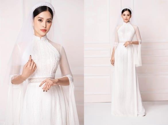 Tổng hợp các mẫu áo dài cưới đẹp nhất tháng 10