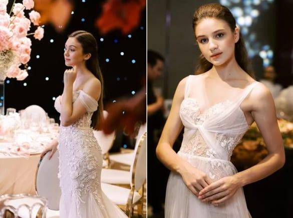 Mẫu Váy cưới ren Pháp phong cách hoàng gia