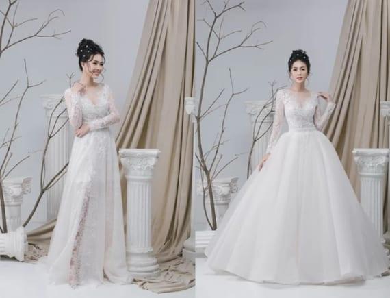 Chiếc váy cưới lấy cảm hứng từ vẻ đẹp phụ nữ Việt