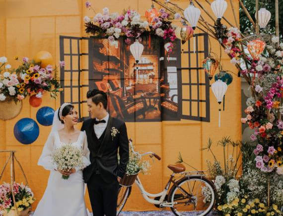 Phố thị Hội An được tái hiện trong đám cưới của cặp đôi Đồng Nai