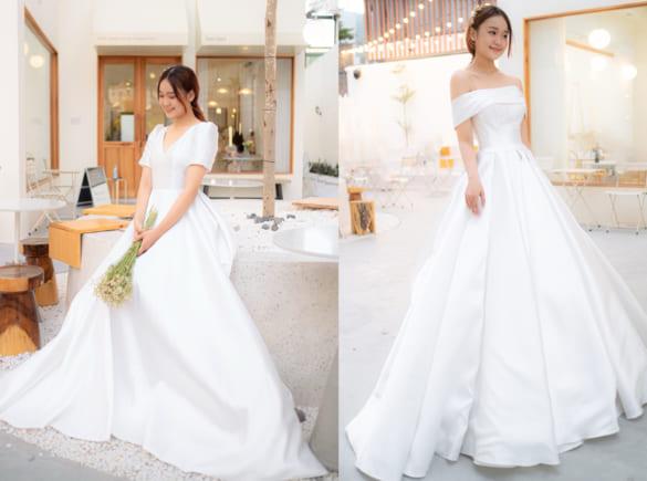 Váy cưới tối giản 'bắt trend' để chụp hình